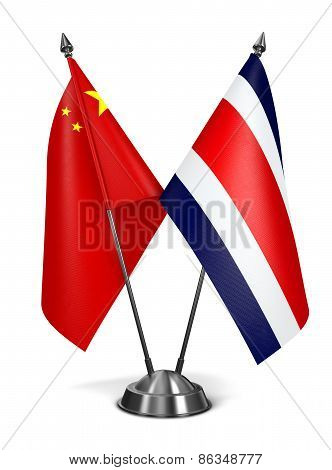 China and Costa Rica - Miniature Flags.