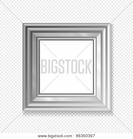 Hanging Paper Sign Frame Grey Picture Vector Shadow