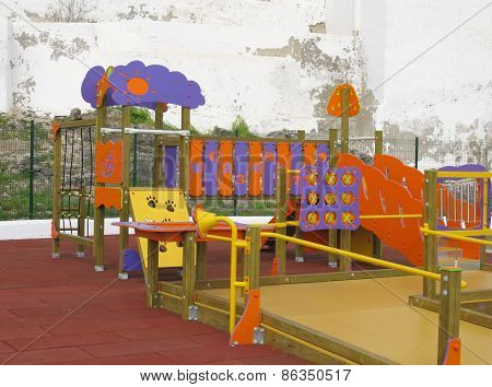 A colorful playground for children