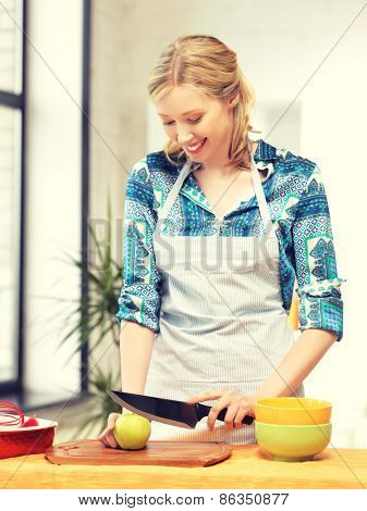 picture of beautiful woman in the kitchen..