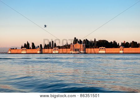 View Of Isola Di San Michele - Island Of Venice Italy