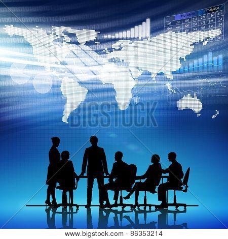 Businessteam at work