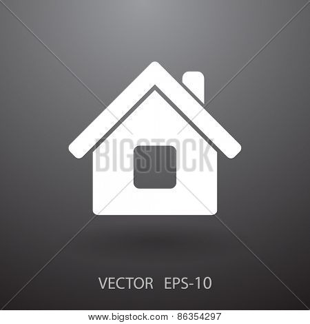 Flat icon of home