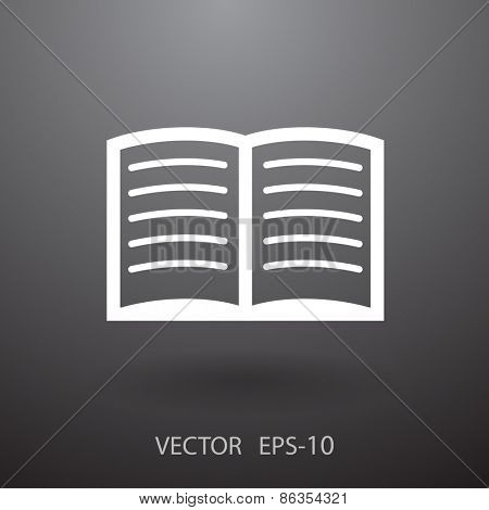 Flat icon of book