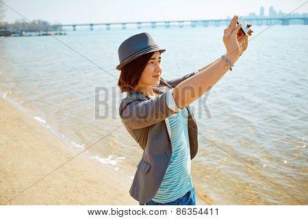girl  on the sea beach