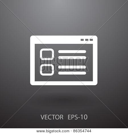 Web window icon, vector illustration