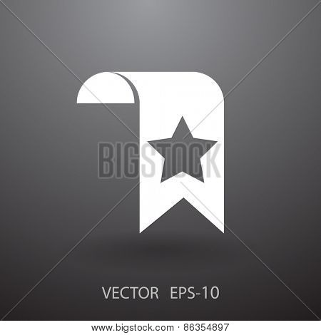 Favorite bookmark icon, vector illustration