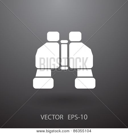Binoculars icon, vector illustration