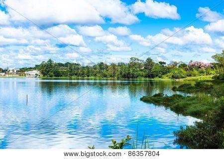 Paranoa Lake in Brasilia, Brazil