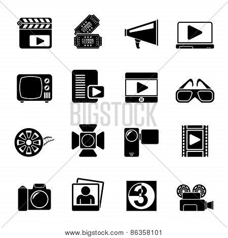 Silhouette Movie and cinema icons