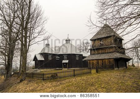 Former Greek catholic church (1863) in Michniowiec, within Bieszczady County, Subcarpathian Voivodeship, Poland