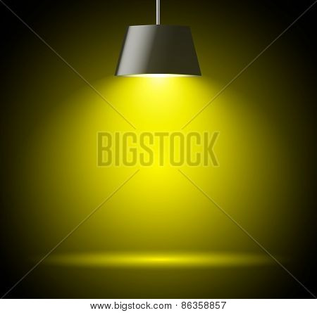 Abstract background with spot light