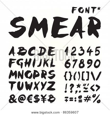 Smear Hand Painted Font