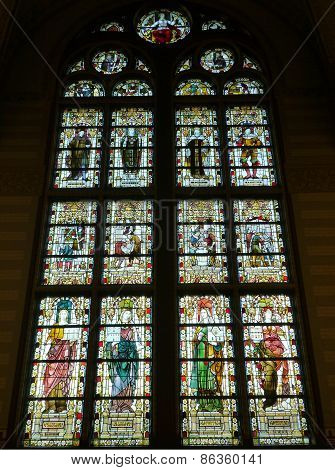 Stained glass in Amsterdam