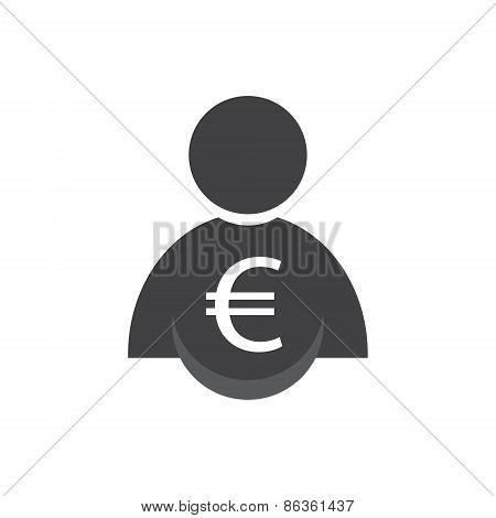 Man Icon, Vector Illustration