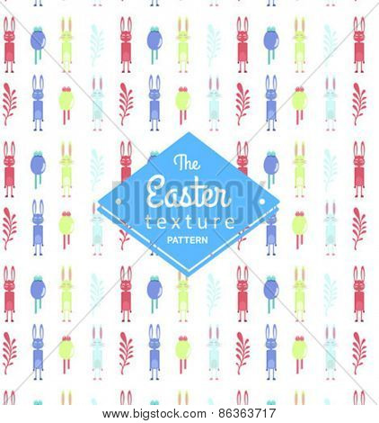Digitally generated Easter pattern wallpaper vector