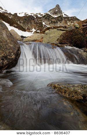 Alpine Landscape With Cacade