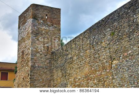 Fortified Wall. Montefalco. Umbria. Italy.