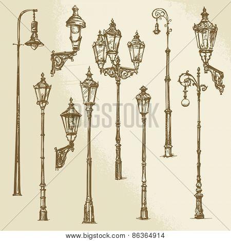 Street lamp set