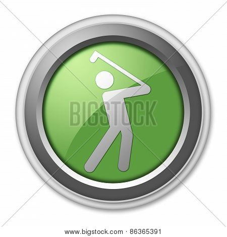 Icon, Button, Pictogram Golfing