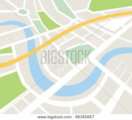 Digitally generated Map of urban infrastructure vector