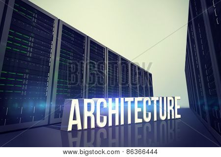 architecture against server hallway