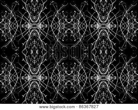 Black And White Decorative Ornament Pattern