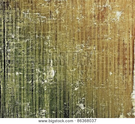 Abstract old background with rough grunge texture. With different color patterns: yellow (beige); brown; gray; green