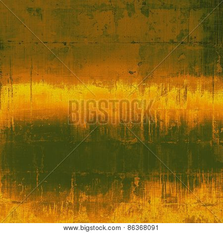 Old grunge template. With different color patterns: yellow (beige); brown; green
