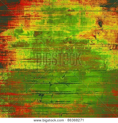 Abstract textured background designed in grunge style. With different color patterns: yellow (beige); brown; green; red (orange)