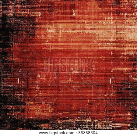Old antique texture - perfect background with space for your text or image. With different color patterns: brown; red (orange); black