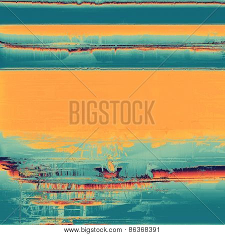 Abstract retro background or old-fashioned texture. With different color patterns: yellow (beige); cyan; blue
