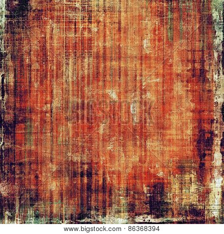 Vintage old texture with space for text or image, distressed grunge background. With different color patterns: yellow (beige); brown; red (orange)