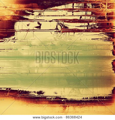 Abstract old background or faded grunge texture. With different color patterns: yellow (beige); brown; gray; green