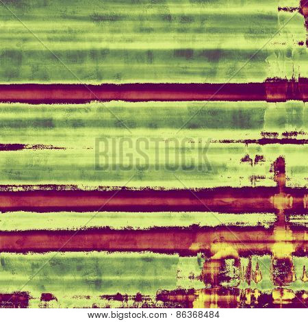 Abstract distressed grunge background. With different color patterns: yellow (beige); green; purple (violet)