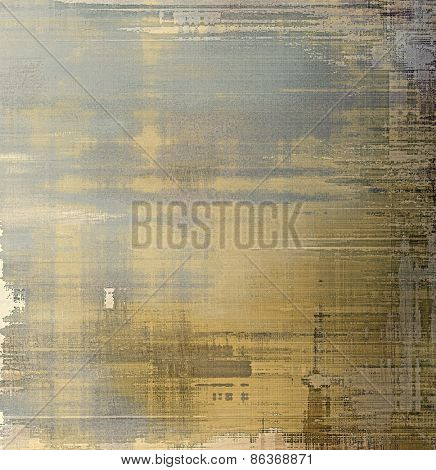 Old scratched retro-style background. With different color patterns: yellow (beige); brown; gray