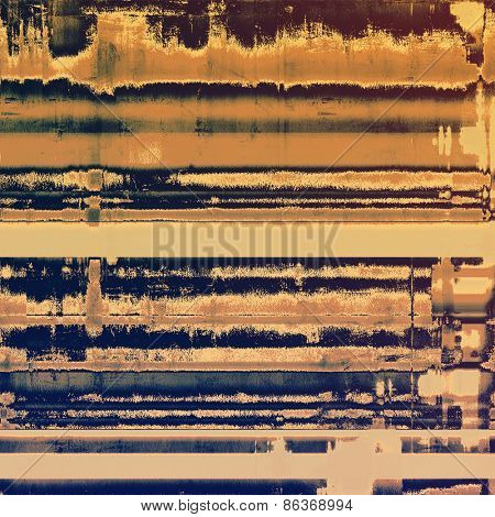 Grunge old-school texture, background for design. With different color patterns: yellow (beige); brown; purple (violet)