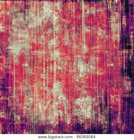 Designed background in grunge style. With different color patterns: purple (violet); pink; red (orange)