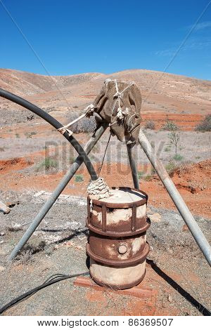 Self-built irrigation system in Fuerteventura