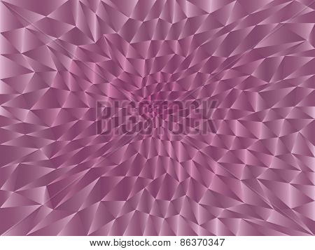 Seamless pink background made of  triangle shapes