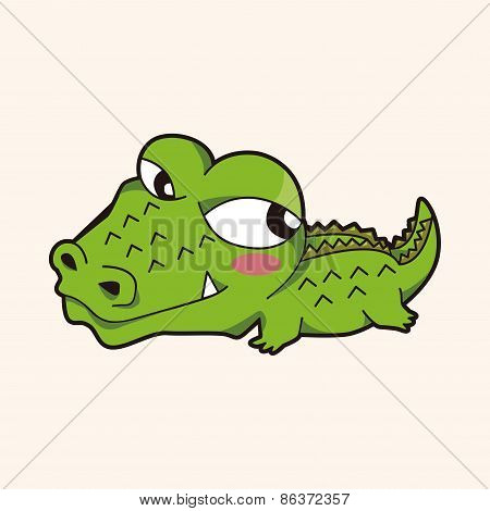 Animal Crocodile Cartoon Theme Elements