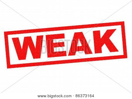 Weak Rubber Stamp