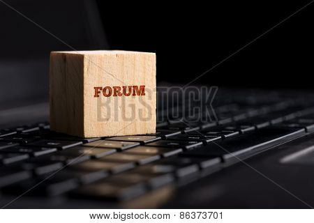 Forum, Communication And Online Support Concept