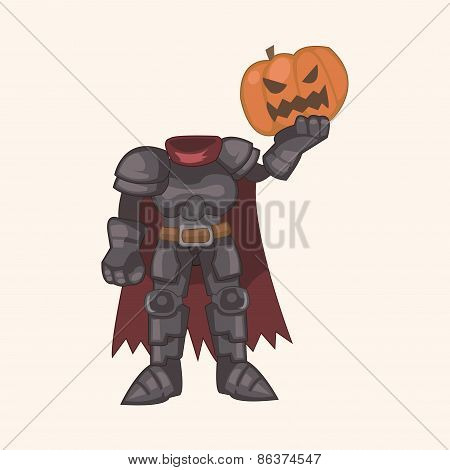 Bizarre Monster Pumpkin Theme Elements