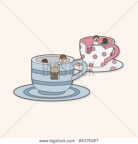 Playground Coffee-cup Theme Elements