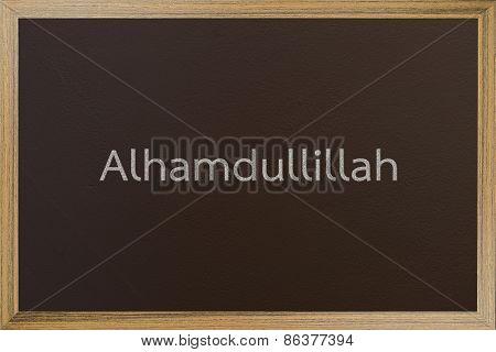Alhamdulillah ( Thanks to Allah)