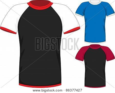 Vector Mens short sleeve t-shirt design templates