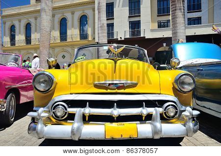 Retro Cars In Havana.