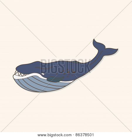 Sea Animal Whale Cartoon Theme Elements