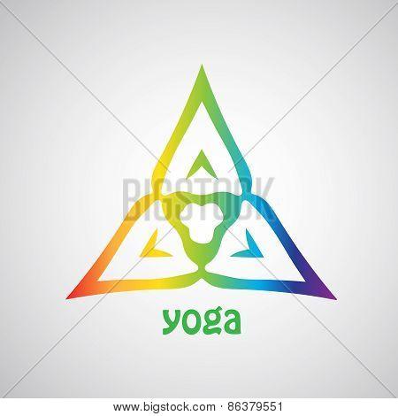 Rainbow yoga template.